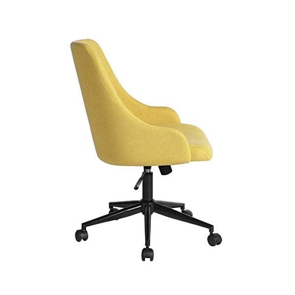 HOMYCASA Chaise d'ordinateur moderne tapissée réglable en hauteur Chaise de bureau pivotante Dossier moyen Accoudoirs…