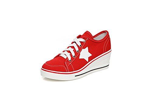 Zapatos de Grueso Inferiores Blancos tamaño Color Otoño Rojo Zapatos Zapatos Talones Baja Comfort de Ayuda Zapatos Lona Mujer 41 Primavera Talón Talón Muffin Talón Lienzo pequeños Zaxwxd6nRq