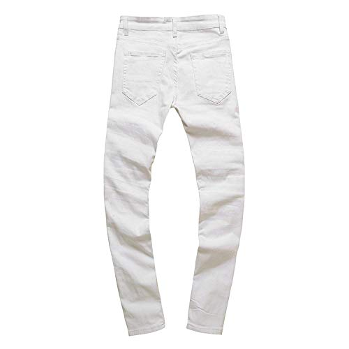 Elastic Slim 38 Fori Comodo Jeans 5 Denim Strech Bianca Chern Pantaloni Pants Fit Colori Per 28 Da Giovane Skinny Rt Uomo vIqZpw6I