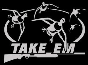 Amazoncom Take Em Duck Hunting Automotive Window Decal Pintail - Vinyl window decals amazon