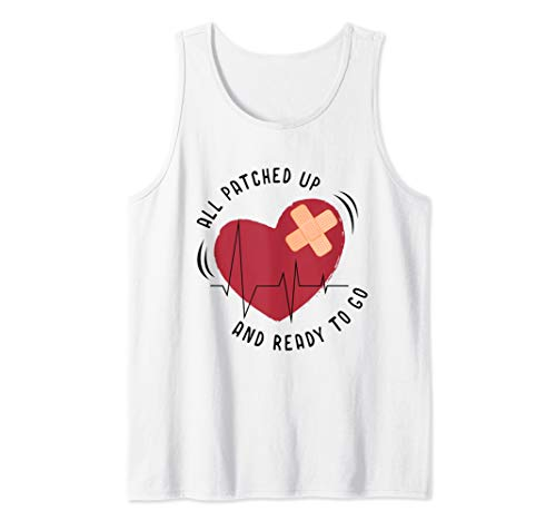 Post Heart Surgery Bypass Recovery All Patched Tank Top