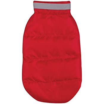 Casual Canine Polyester The North Paw Puffy Dog Vest, Small/Medium, Red