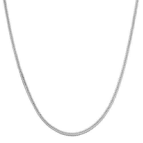 Kooljewelry Sterling Silver 0.8 mm Foxtail Chain Necklace (16 inch) ()