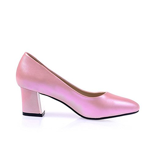 Balamasa Meisjes Punt-teen Laag Uitgesneden Bovendeel Hi-face Pumps-schoenen Roze