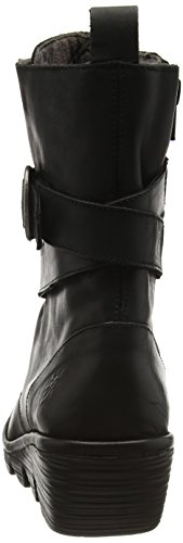 Fly London Pong673fly Botas Altas, Mujer Negro (Black 000)
