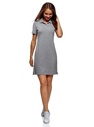 oodji Ultra Women's Pique Polo Dress, Grey, 0 ()