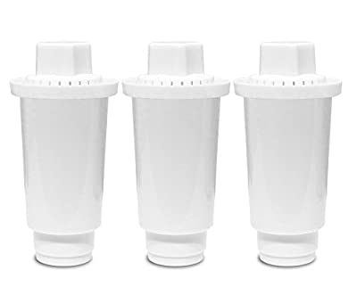 Replacement Water Filters, Alkaline Water Filter Replacement, Ionized Water Filter Cartridge, Reduce Chloride, Hard Metals, Increase pH,7 Stage, Used for Pitcher - 3-Pack