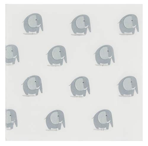 Cocktail Napkins - 150-Pack Luncheon Napkins, Disposable Paper Napkins Kids Birthday, Baby Shower Party Supplies, 2-Ply, Elephant Design, Unfolded 13 x 13 Inches, Folded 6.5 x 6.5 Inches