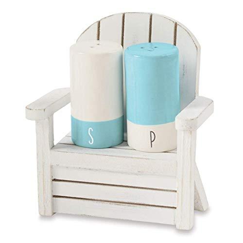 Mud Pie Salt and Pepper Shaker in Wood Chair Set of 3