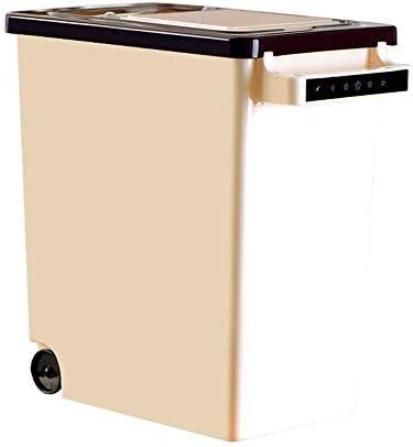 家庭用米バレル防湿プーリー穀物容器米/小麦粉貯蔵ボックス15KG