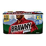 Brawny(R) Pick-A-Size 2-Ply Extra-Large Paper Towels, White, 140 Sheets Per Roll, 8 Rolls Per Pack