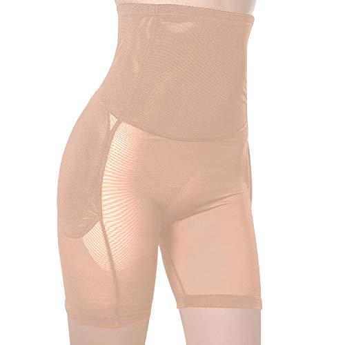 Defitshape Women's Butt Lifter Shapewear Panty High Waist Padded Hip Enhancer Shaper Panties Black Nude US10/12Tag2XL (3138 Series)