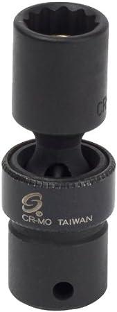 Sunex 808zuMMG 1//4-Inch Drive 8-Mm 12-Point Magnetic Universal Impact Socket