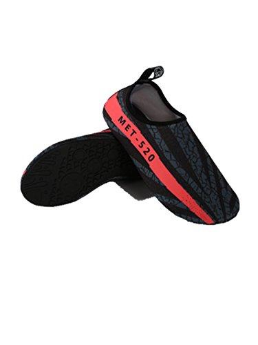 Neufashion Vann Sko Barbeint Quick-tørr Aqua Yoga Sokker Slip-on Design Utendørs Sports Sko For Menn Kvinner Barn, Vannsport Sko, Dykking Sko Black2
