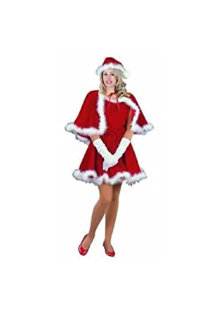 RG Costumes Women's Sexy MS Santa with Cape, Red, Small/2-4