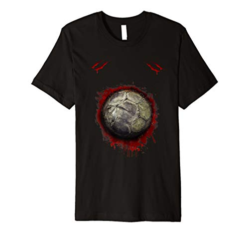 (Zombie Soccer Player T-shirt Halloween funny for men)