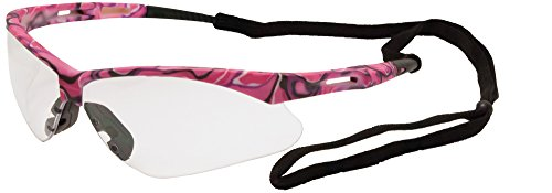 ERB Safety Products 15341 Annie Safety Glasses, Pink Camo Frame, Clear Lens, 6