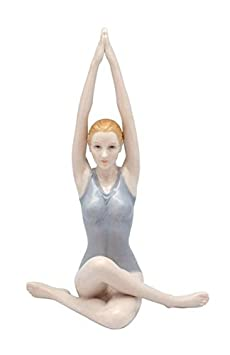 6.75 Inch Porcelain Figurine Yoga Woman performs Sun Salutation Pose