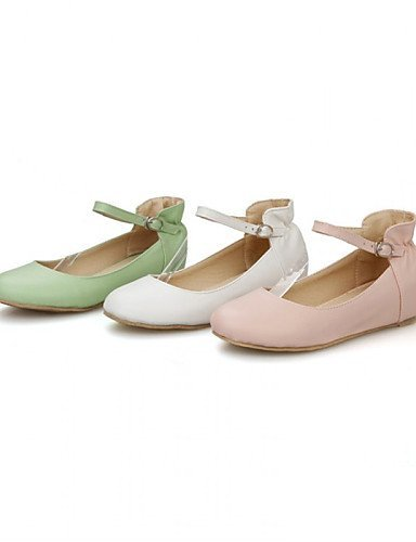 pelle Donna Bianco Ballerine Verde Ballerina Scarpe Rosa Formale Finta ShangYi Casual Piatto White Px8pwUqC