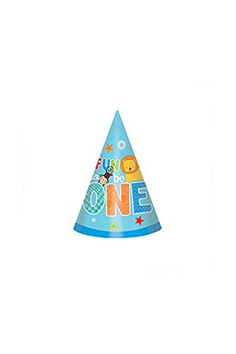 amscan One Wild Boy 1st Birthday Party Cone Hats, 6