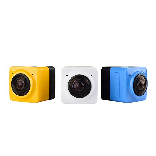 Ocamo Mini WiFi 360 Degree Panoramic Wide Angle Action Camera Sports Cam Recorder with Standard 1/4 Screw Interface White