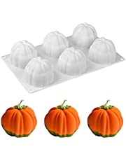 WOPODI 3D Pumpkin Molds Halloween Silicone Fondant Mold Pumpkins Candy Wax Candle Mousse Cake Chocolate Baking Moulds for Candy Cupcake Soap Chocolate Dessert DIY Decorating Tool