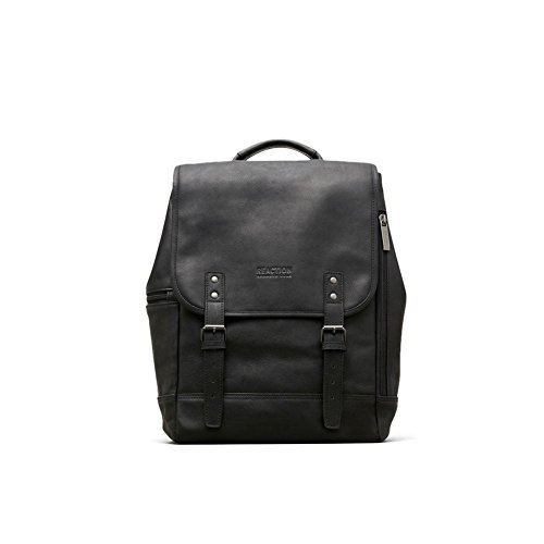fb9c66771 Kenneth Cole Reaction Colombian Leather Single Gusset Flapover Computer  Backpack, 14.1