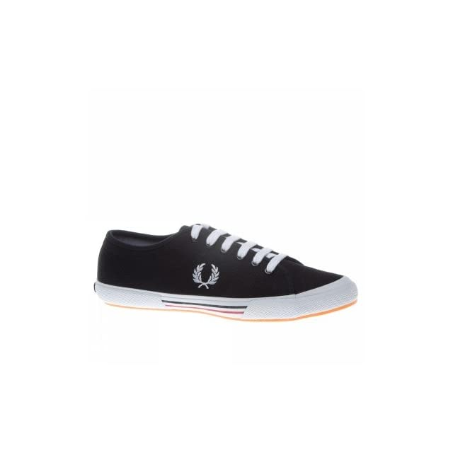 Fred Perry Trainers Shoes Mens Vintage Tennis Canvas Black