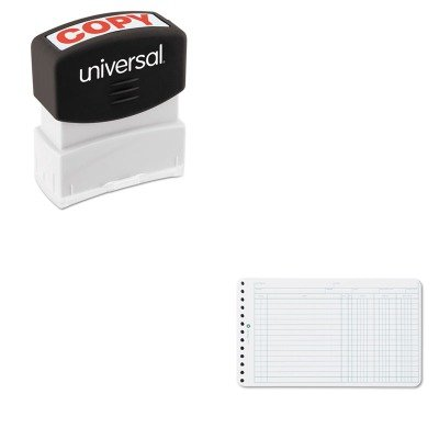 KITUNV10048WLJ75850 - Value Kit - Wilson Jones Extra Sheets for Six-Ring Ledger Binder (WLJ75850) and Universal Message Stamp (UNV10048) ()