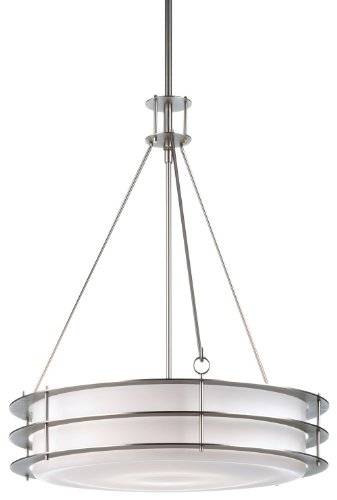 Forecast Lighting F154262NV Hollywood Hills 3 Light Pendant, Metallic Silver