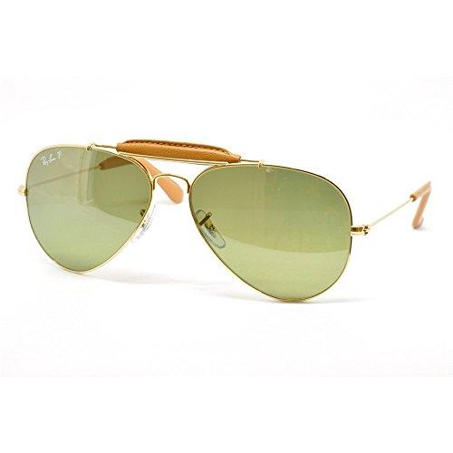 RB 0RB3422Q Gold Sunglasses - B R Sunglasses