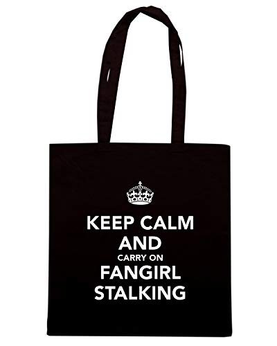 Shopper KEEP CARRY ON FANGIRL AND TKC1816 CALM Nera Borsa STALKING dqpF14d