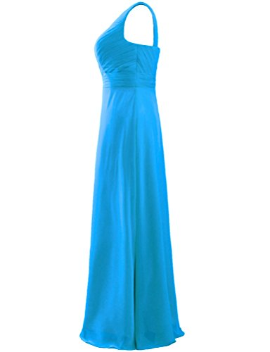 Bridesmaid ANTS One Long Gown Women's Blue Dress Pleat Chiffon Shoulder UxXq0PU