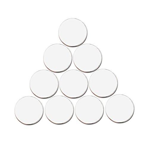 (PINMEI Blank Golf Ball Marker in 24mm, Suit for Custom Printing, Pack of 20 (White) )