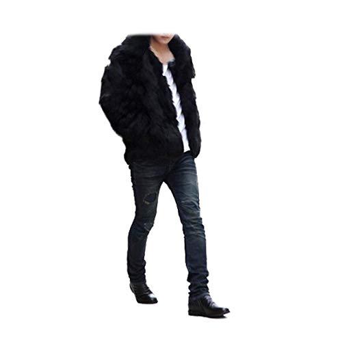 Emmay Capispalla Pelliccia Lungo Di Tasche Lunga Invernale A Laterali Manica Cappotti Essenziale Cappotto Giacca Uomo Sintetica Schwarz Da rUarcq1g