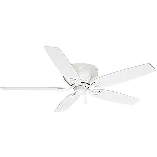 Casablanca Indoor Low Profile Ceiling Fan, with pull chain control - Durant 54 inch, White, 54103 ()