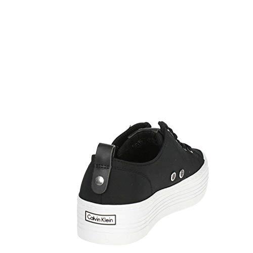 Nylon Sneakers Basses Calvin Zolah Klein Noir Jeans Femme FqwxZvtyxU