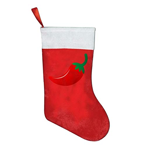 Hot Spicy Chili Pepper Novelty of Fashion Christmas Stocking Printed Christmas Holiday Socks