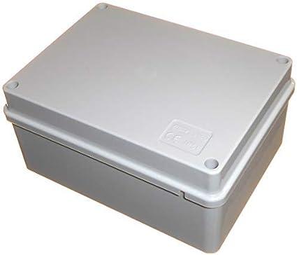 Caja de conexiones de 150 mm x 110 mm x 70 mm, impermeable IP56, hecha en PVC, caja adaptable para iluminación al aire libre y cables de conexión eléctrica: Amazon.es: Bricolaje y herramientas
