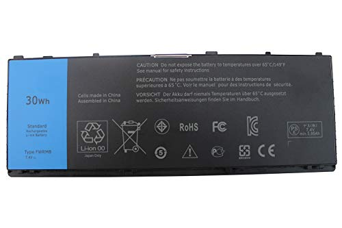 Easy&Fine 30WH FWRM8 Laptop Battery Replacement for Dell Latitude 10 ST2 Latitude 10 ST2e Series Tablet 1VH6G C1H8N FWRMS CT4V5 KY1TV H91MK Y50C5 PPNPH 1XP35 YCFRN KY1TV 312-1412 312-1423