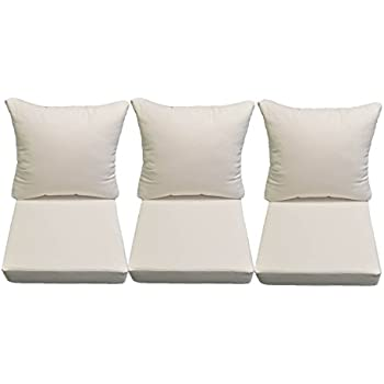 Sunbrella Canvas White Cushions For Patio Outdoor Deep Seating Furniture  Sofa / Couch   Choice Of