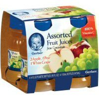 Gerber Juices Variety Pack Apple / Pear / White Grape 4 Oz - 6 Pack