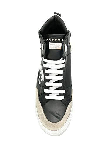 Philipp Hi Pelle Top Msc1793ple009n0201 Nero Sneakers Plein Uomo rH5qRr