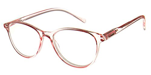 77d608ec15e Aloha Eyewear Tek Spex 8001 Women s Translucent Progressive No-Line Bifocal  Reader Glasses (Pink