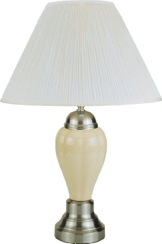 - Ore International 6117SN-IV Ceramic Table Lamp, 16
