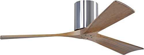 Matthews IR3H-CR-52, Irene Polished Chrome Flush Mount 52 Outdoor Ceiling Fan w Remote Ctrl