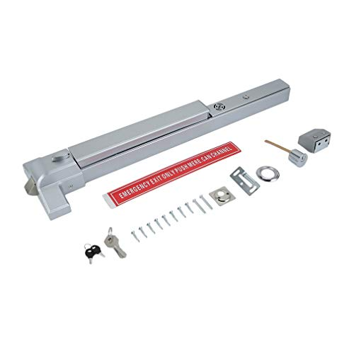 Panic Exit Device Door Push Bar Rail with Alarm Stainless Steel Latch for Emergency Alarm ()