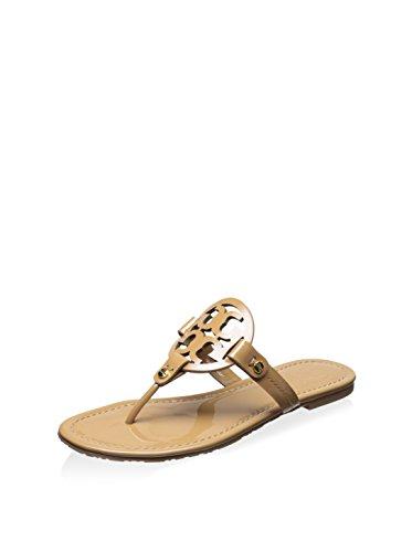 Tory Burch Miller Metallic Sandal Womens (7, Sand Patent) from Tory Burch