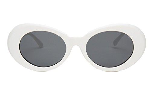 Oval Round Sunglasses | Clout Goggles Retro Kurt Cobain Glasses