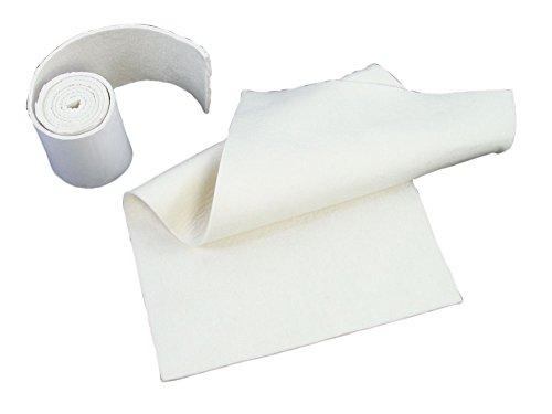 Orthopedic-grade Adhesive-backed Felt, 1/4 inch, 6 inch x 2-1/2 yard roll